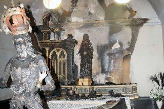 Alejamiento de centros católicos para el marroquí que quemó imágenes en Fontellas