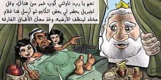 El predicador musulmán mata al escritor cristiano por esta viñeta del 'Dios de DAESH'