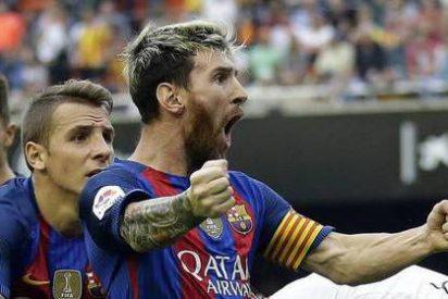 """Messi y Neymar a la grada de Mestalla tras el 2-3 del Barça: """"Iros a tomar por culo, hijos de mil p..."""""""