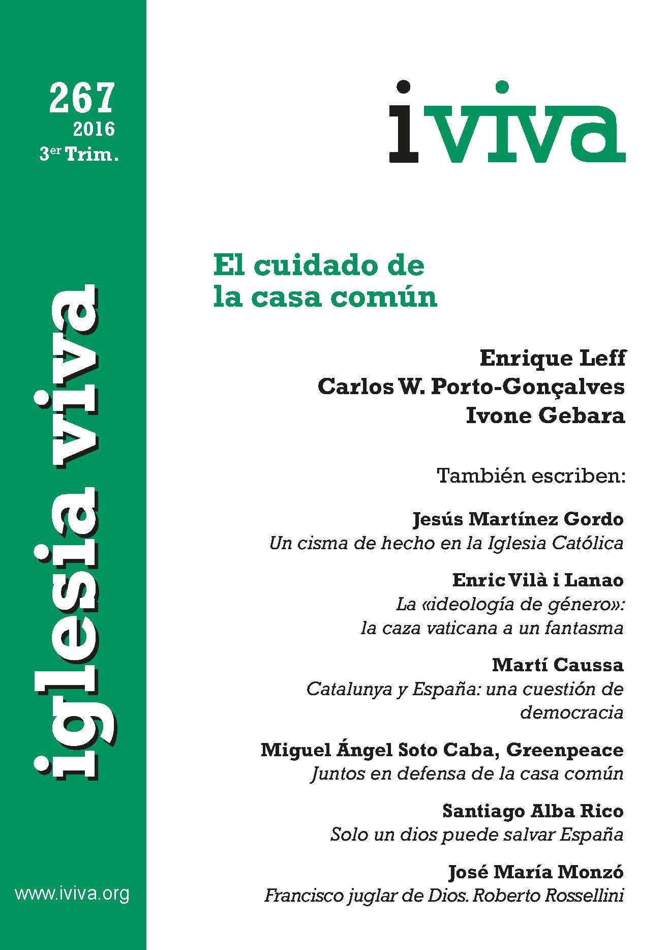"""""""El cuidado de la casa común"""", nuevo número de Iglesia Viva"""
