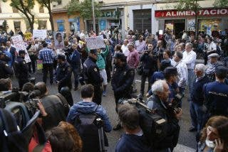 Sánchez y Marlaska atiborran Ferraz de policías por la manifestación espontánea contra los indultos