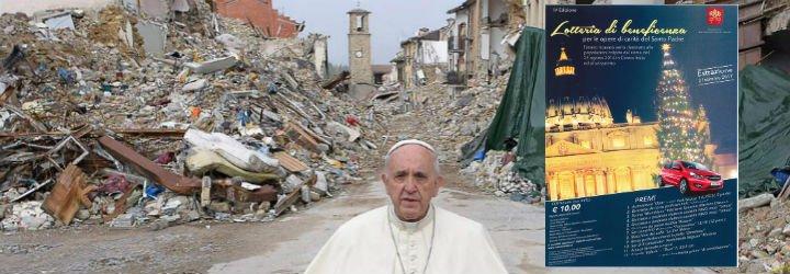 El Papa destinará lo recaudado en la lotería vaticana a las víctimas de Amatrice y los sin techo de Roma