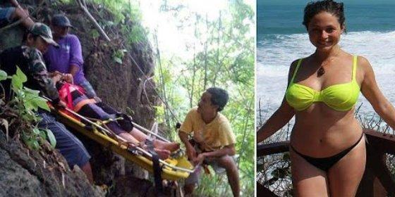 La chica violada con su espalda rota en el acantilado donde se despeñó