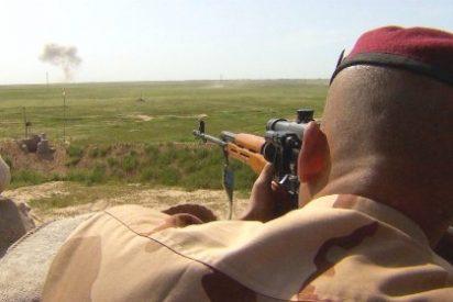 Con estos cojones se pelea en las afueras de Mosul entre minas y locos suicidas del ISIS