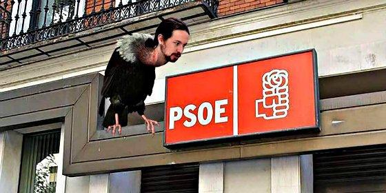 """Pablo Iglesias: """"Se imponen en el PSOE los partidarios de dar el gobierno al PP"""""""