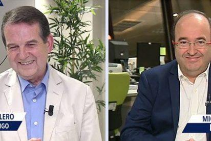 Con la que está cayendo en el PSOE y estos dos personajes van y se ponen a hablar...¡del Celta-Barça!