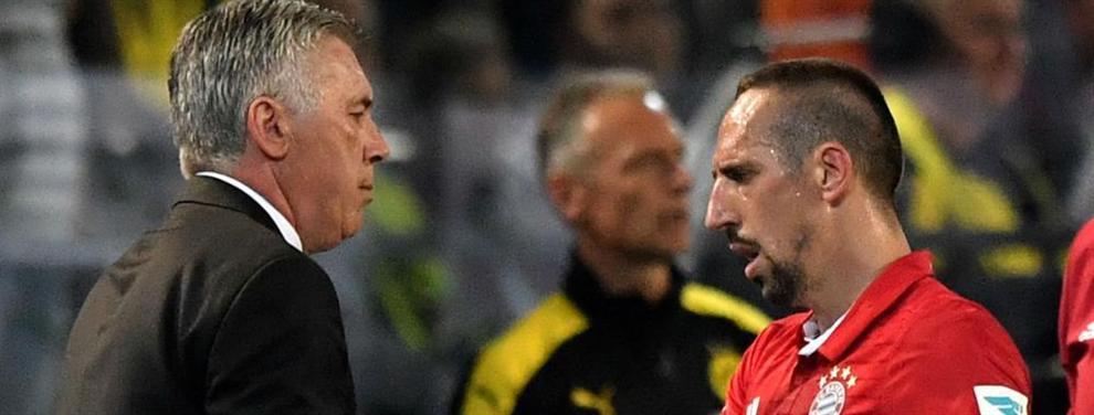 Carlo Ancelotti logra lo que parecía imposible con Robben y Ribery