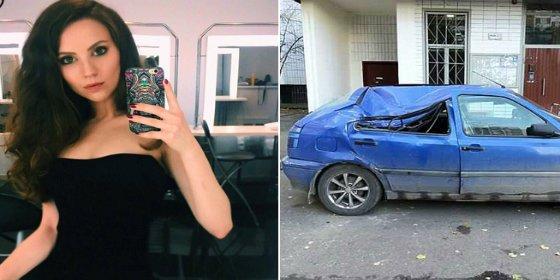 Sobrevive tras caer desde un piso 17 sobre el techo de un Volkswagen Golf