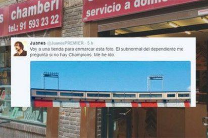 Twitter masacra al fanático del Atlético que quiso tener su minuto de gloria vengándose de un comercio de barrio