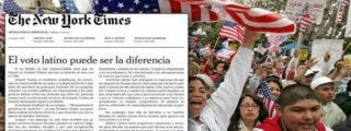 El editorial del New York Times animando a los latinos a votar contra Donald Trump