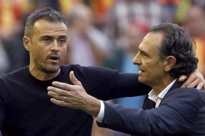 El cabreo de Luis Enrique al terminar el partido ante el Valencia