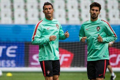 El 'peloteo' de André Gomes a Cristiano Ronaldo no gusta en el Barça