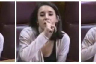 VÍDEO / El grosero gesto de la primera dama podemita cuando le recuerdan que Podemos cobró del chavismo