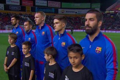 TV3 se coge un rebote de aúpa porque ninguno de los jugadores del Barça y el Espanyol cantó 'Els Segadors'