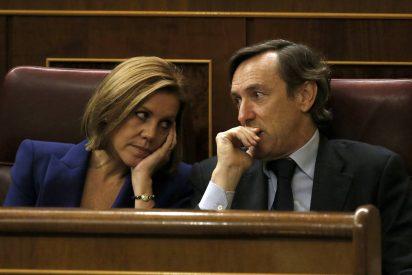 Cospedal llama 'sinvergüenza' a Iglesias minutos después de que Rivera lo tildará de 'capullo' y 'gilipollas'