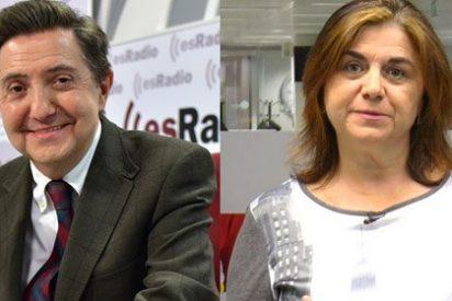 """Cascotazo de Losantos a la podemita Lucía Méndez: """"Le servías el café a Miguel Ángel Rodríguez"""""""