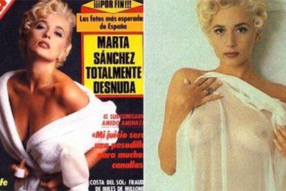 La intrahistoria del desnudo en Interviú de la pechugona Marta Sánchez