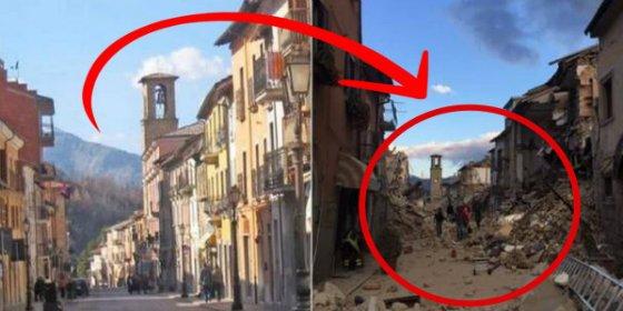 Las ruinas grabadas desde un dron tras el devastador terremoto en Italia