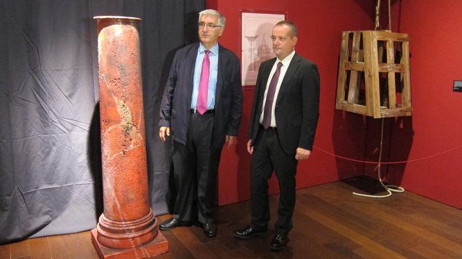 Muestra sobre el origen de la columna de la Virgen del Pilar