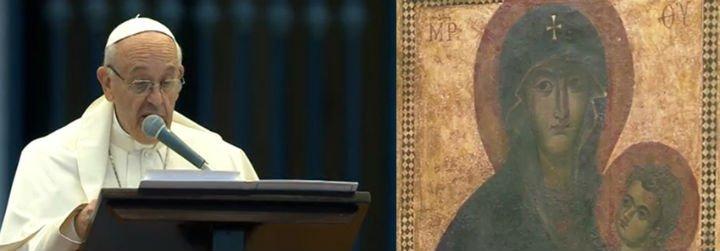 """Papa: """"María fue invocada como madre de la misericordia desde los primeros siglos de la Iglesia"""""""