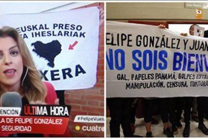 ¿Qué pintan los cachorros de Otegi en el escrache a González y Cebrián en una universidad madrileña?