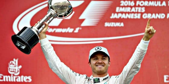 El alemán Nico Rosberg gana en Japón se acerca al título mundial
