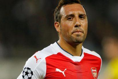 Santi Cazorla está cada vez más fuera del Arsenal
