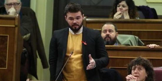 """Gabriel Rufian: """"Señor Rajoy, diga condón"""""""