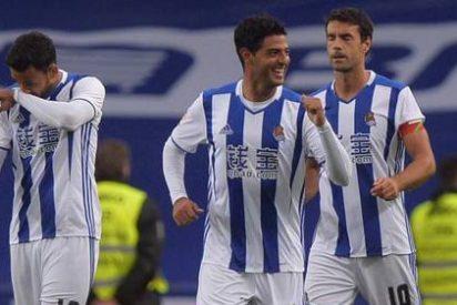 La Real Sociedad supera con claridad al Atlético de Madrid (2-0)