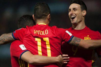 España le casca un 4-0 a Macedonia jugando de salón