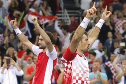 Croacia se impone en el dobles a Argentina y acaricia la Copa Davis