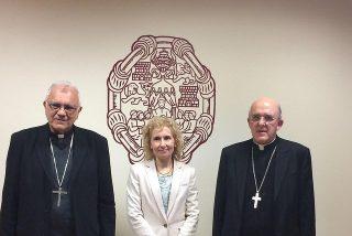 Los nuevos cardenales Osoro y Porras visitan la Upsa