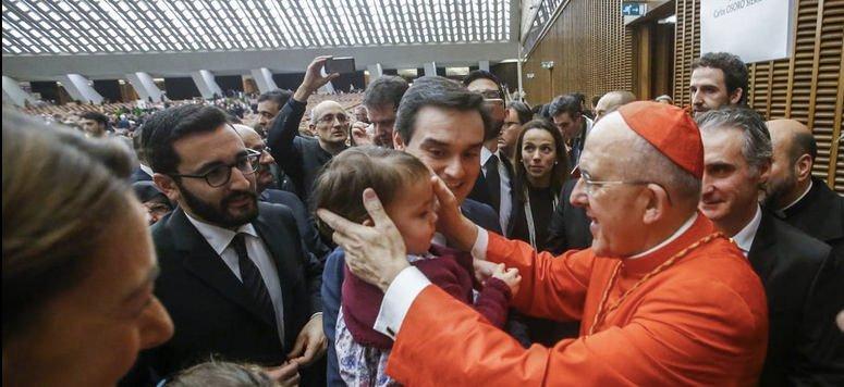 """""""Francisco me ha dado un abrazo y me pidió que siga adelante y que dé mi vida por la Iglesia"""""""