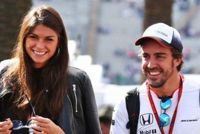 Linda Morselli presume en Instagram de lo 'colado' por ella que esta el romántico Fernando Alonso