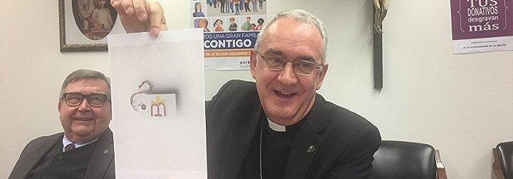 Ángel Pérez Pueyo presenta el nuevo lógo de su diócesis