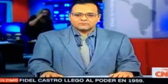 Con esta empanada mental mata a Raúl Castro el cabreado presentador de CNN en español