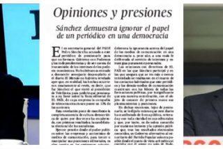 """Bofetón de El País a Sánchez: """"Su presión sobre el diario es inmoral"""""""