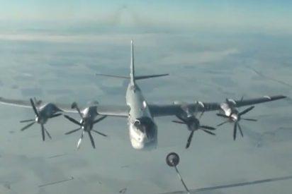 El bombardero Tu-95MCM con misiles de crucero aplastando terroristas sirios