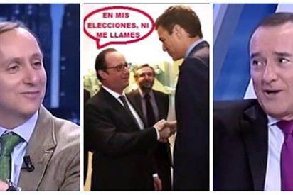 """Carcajadas de Cuesta y Jiménez con el 'visionario' Sánchez: """"Hollande le mandará al chiringuito de Mojácar"""""""