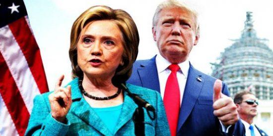 Trump supera a Clinton por un pelo en los sondeos a solo una semana de elecciones