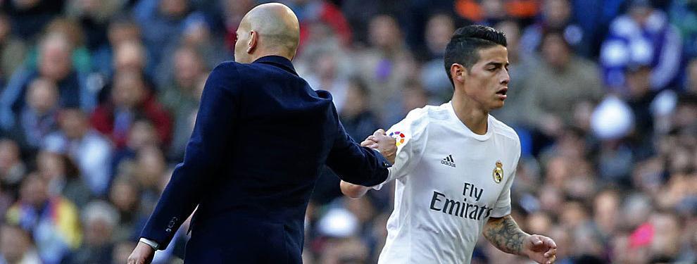 El grande de Italia que viene a rescatar a James Rodríguez de Zinedine Zidane