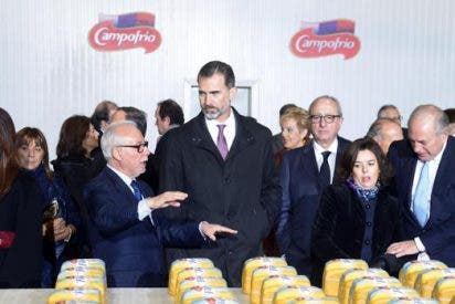 El Rey visita las nuevas instalaciones de Campofrío