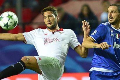 El Sevilla cae ante la Juve en el Pizjuán y se la jugará ante el Lyon