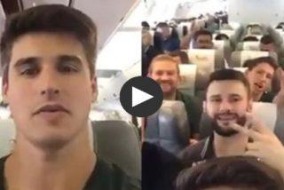 El alegre vídeo de los jugadores del Chapecoense en el avión poco antes de despegar hacia la muerte