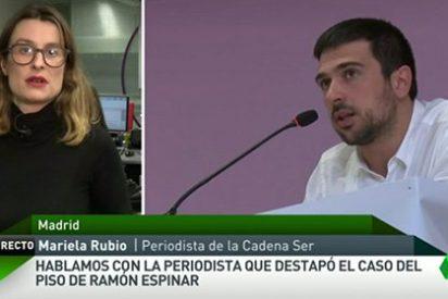 """La chulería de Ramón Espinar con la periodista de la SER: """"¡Publicad lo que os dé la gana!"""""""
