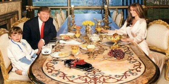 El escalofriante detalle que se esconde en esta foto de Donald Trump con su familia