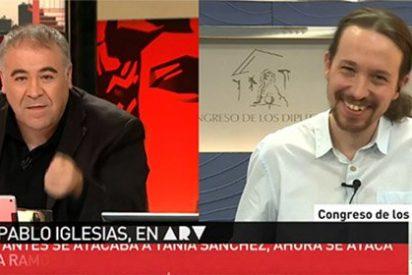 """El Iglesias más chulo se le sube a las barbas a García Ferreras: """"Puedes preguntarme por Espinar todas las veces que quieras, que voy a responder lo mismo"""""""
