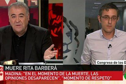 """El 'zasca' de Madina a Podemos: """"Discutir de la muerte de Barberá es bajar 70 niveles en ética"""""""
