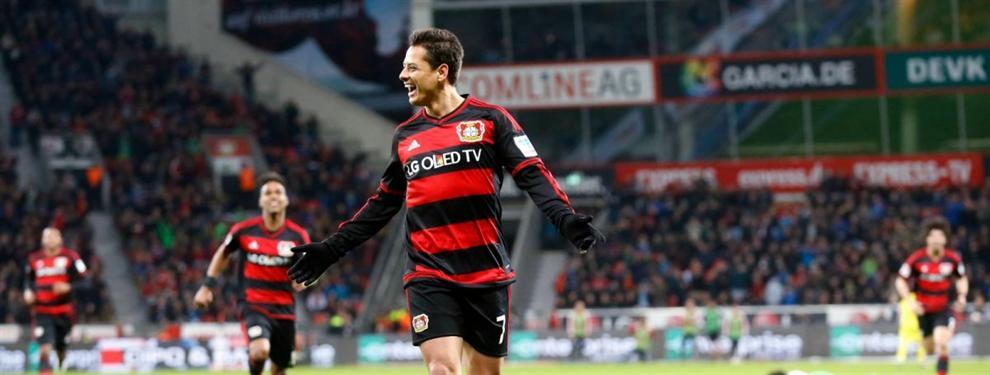 Gol de 'Chicharito' elegido como el mejor gol de la historia de la Bundesliga