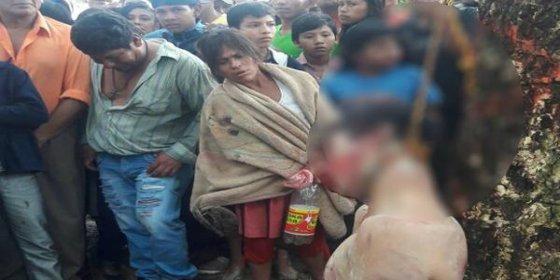 La turba saca a rastras del penal al violador y asesino de una niña de 4 años y lo lincha